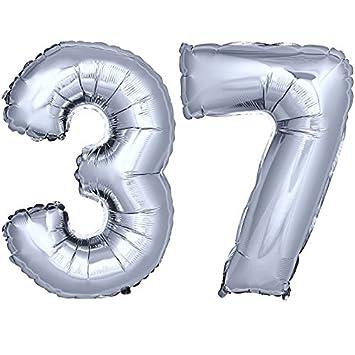 Folienballon Zahlenballon Heliumballon Luftballon Geburtstag Gold 120cm Zahl 65