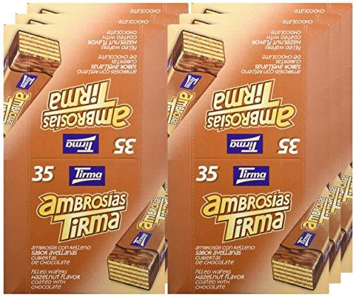Tirma Ambrosías con Relleno Sabor Avellanas - Paquete de 35 Barritas: Amazon.es: Alimentación y bebidas