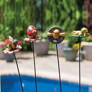 Happy Critters verano tiempo estaca de jardín estatuas