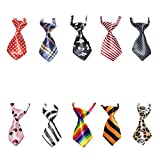 10 Pcs/Pack, GOGO Dog Cat Collar, Neckties, Assorted SET1