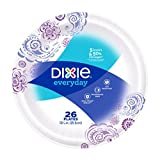 Dixie Everyday Paper Plates, 10 1/16 Inch Plates, 26 Count; Designs May Vary