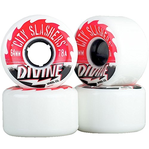 Divine City Slashers Longboard Wheels (White 78a)
