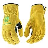 West Chester John Deere JD00004 Premium Split Cowhide Leather Driver Work Gloves: Large, 1 Pair