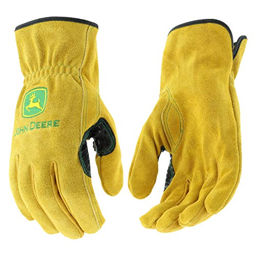 West Chester John Deere JD00004 Premium Split Cowhide Leather Driver Work Gloves: Large, 1 Pair from West Chester