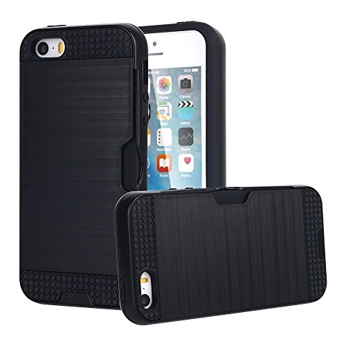 iphone-5s-se-case-mcuk-dual-layer-brushed-metal-texture-heavy-duty-drop-protection-card-slot-shock-a