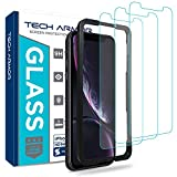 Tech Armor Apple iPhone Xr Ballistic Glass Screen Protector [3-Pack] Case-Friendly Tempered Glass, Haptic Touch Accurate Designed for New 2018 Apple iPhone Xr