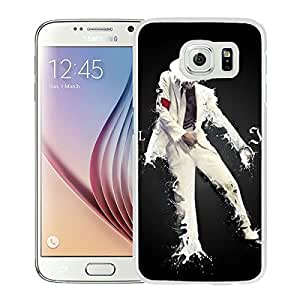 Samsung Galaxy S6 Michael Jackson White Screen Cellphone Case Luxurious and Handmade Cover