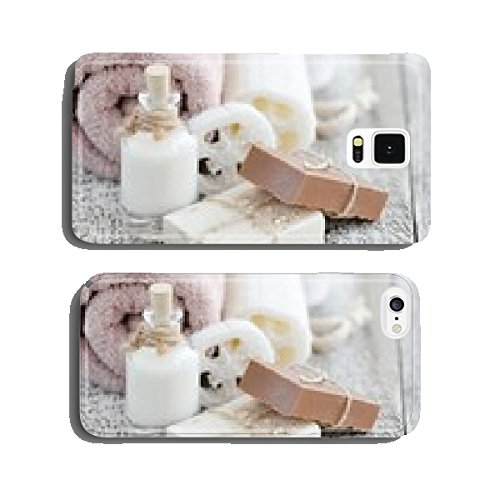 Handmade soap with oatmeal, milk and cocoa cell phone cover case iPhone6