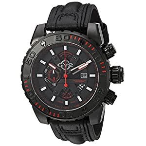 GV2 by Gevril Men's 1404 Polpo Analog Display Swiss Quartz Black Watch