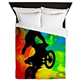 CafePress - Motocross In A Solar Melt Down .Png - Queen Duvet Cover, Printed Comforter Cover, Unique Bedding, Microfiber