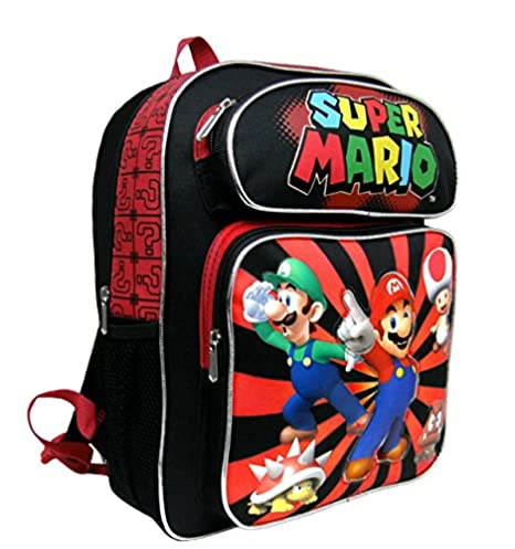 Amazon.com | Backpack - Nintendo - Super Mario Black & Red 14