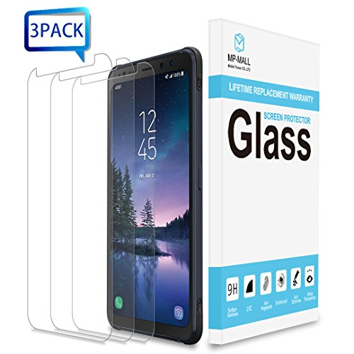 Price comparison product image Samsung Galaxy S8 Active Screen Protector, [3-PACK] MP-MALL [Tempered Glass] with Lifetime Replacement Warranty [Not Fit for Galaxy S8 / Galaxy S8 Plus]