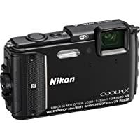 Nikon Coolpix AW130 Shock & Waterproof GPS Digital Camera (Black) - International Version