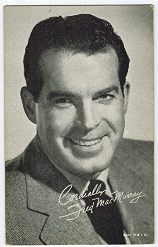 Exhibit Fred MacMurray Arcade Card: BW 1940s (13mm MADE IN U.S.A.) Series