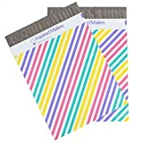 Inspired Mailers Poly Mailers 10x13 Colorful Pastel Stripes – Pack of 100 – Unpadded Shipping Bags