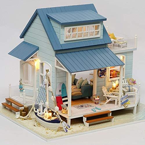 XuBa Muebles DIY Casa de Mu\u00f1ecas Wodden Miniatura Casas de Mu\u00f1ecas Muebles Kit DIY Puzzle Montar Casa de...