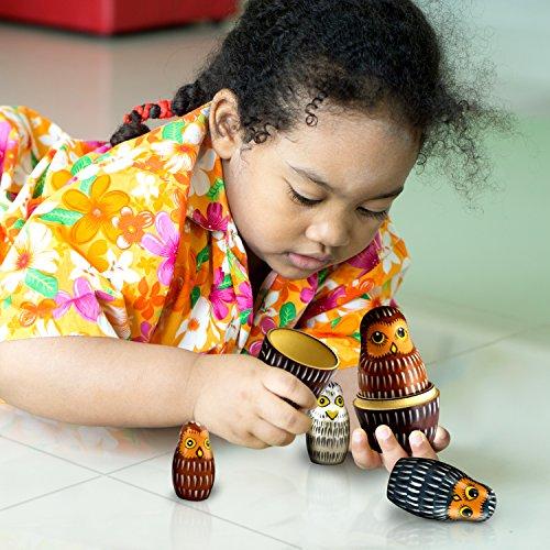 Owl Nesting Dolls - Owl Decor - Owl Gifts - Owl Toy - Matryoshka set 7 dolls by MATRYOSHKA&HANDICRAFT (Image #7)