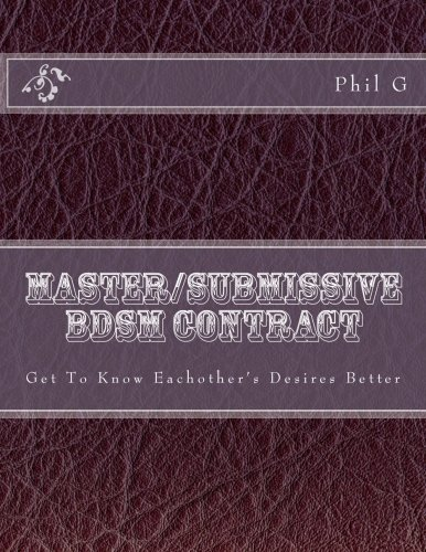 Master/submissive BDSM Contract