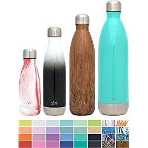 Simple Modern 17oz Wave Water Bottle - Vacuum Insulated Double Wall 18/8 Stainless Steel Hydro Swell Flask - Fusion Collection - Tuxedo