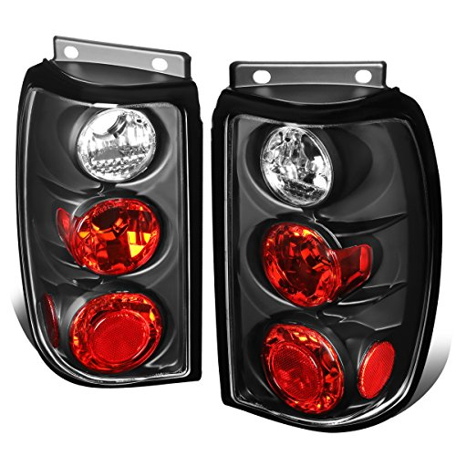 For 1995-1997 Ford Explorer Black Housing Altezza Style Tail Light Brake/Parking Lamps