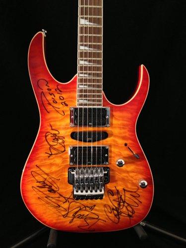 (Poison Signed Fireburst Red Ibanez RG4GC1)