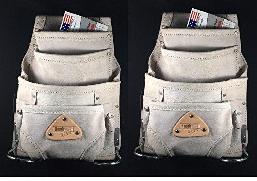Carpenter electrician 10 Pocket tool bag waist belt pouch...