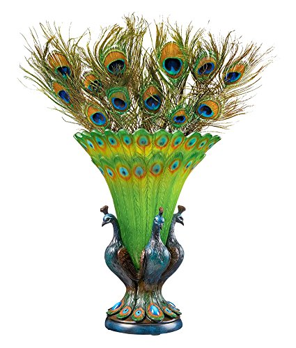 Colorful Peacock Sculptural Vase