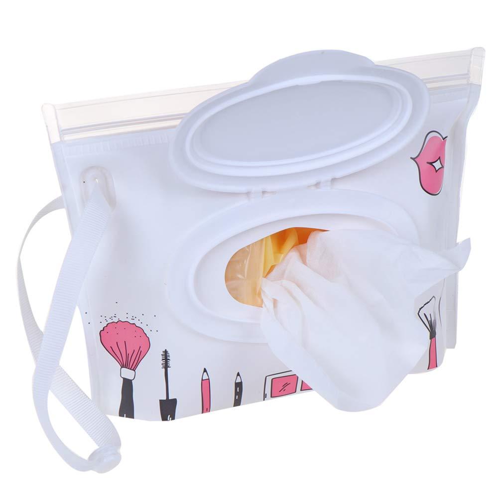 FADACAI 1 STK.Baby Wet Wipe Reisetasche T/ücher Fall wiederverwendbar nachf/üllbar Wet Wipe Bag F/ällen tragbar Reise Feuchtt/ücher Spender Wipe Beutel f/ür Baby