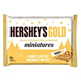 HERSHEY'S Christmas Gold Miniatures Candy, Stocking Stuffer, 198 Gram
