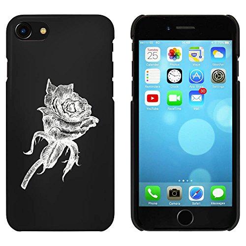Noir 'Rose' étui / housse pour iPhone 7 (MC00070421)