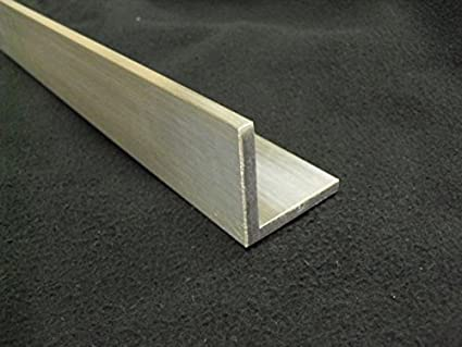 """1 Foot Length Aluminum Angle 2/"""" x 2/"""" x 1//4/"""" Wall Mill Finish"""