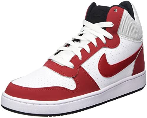 2e78c2afa01 Nike Men s Court Borough MID White Gym Red-Black Sneakers-10 UK ...