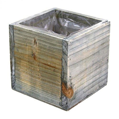 Koyal Wholesale Square Cube Wood Vase (Pack of 6), 4