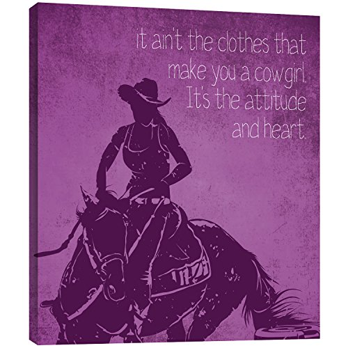 Tree-Free Greetings EcoArt Home Decor Wall Plaque, 11.25 x 11.25 Inches, Cowgirl Attitude Themed Western Art -