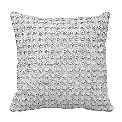 Amazon White Silver Gray Bling Diamond Glitter Decorative Throw Beauteous Silver Sequin Decorative Pillow