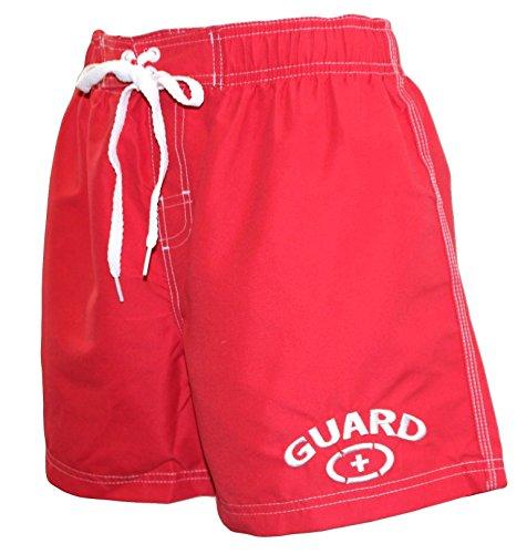 Adoretex Women's Lifeguard Board Short Swimwear - FGB06 - Red - XX-Large