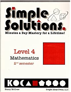 Simple solutions math level 3 nancy l mcgraw 9780972873000 simple solutions minutes a day mastery for a lifetime level 4 mathematics 2nd semester fandeluxe Choice Image