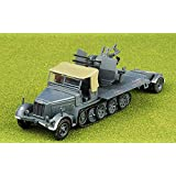 German Flak Sd.Kfz.7/1 with Sd.Ah.51 Trailer 1/72 DIECAST Model Finished Tank
