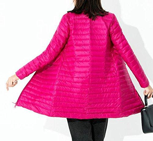 amp;E Zip Down Full Slim Lightweight Red Women Outwear Winter Entrance H Rose Puffer Happiness Coat 8FqfEax