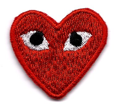 embird-play-comme-des-garcons-red-heart-eyes-embroidered-iron-on-sew-on-badge-applique-patch