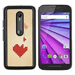 Stuss Case / Funda Carcasa protectora - Globos del corazón profundo significado Juegos Amor - Motorola MOTO G3 ( 3nd Generation )