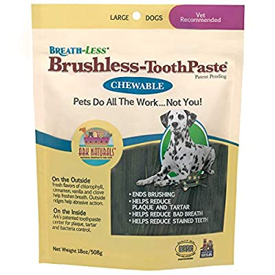 Ark Naturals Breath-Less Brushless Toothpaste, Vet Recommended Natural Dental Chews