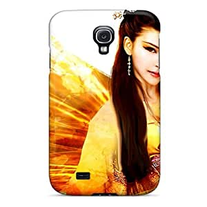 Galaxy S4 Case Cover - Slim Fit Tpu Protector Shock Absorbent Case (butterfly Angel)