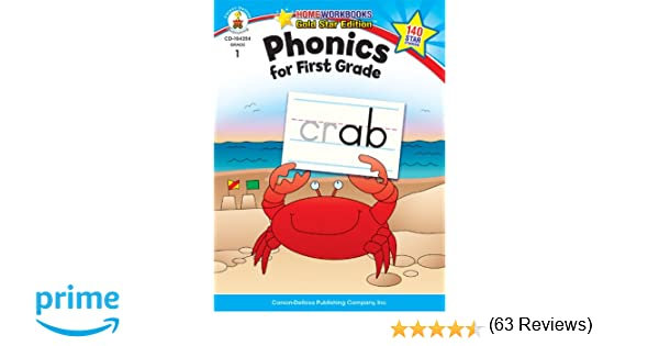 Amazon.com: Phonics for First Grade, Grade 1: Gold Star Edition ...