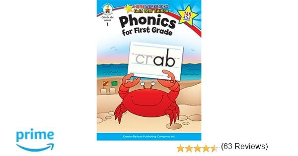 Amazon.com: Phonics for First Grade, Grade 1: Gold Star Edition ...