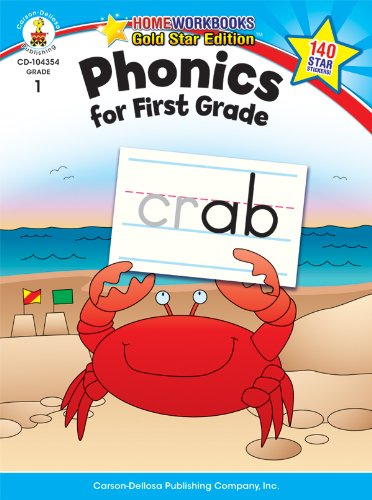 Phonics for First Grade, Grade 1: Gold Star