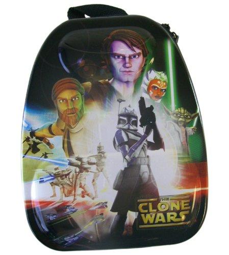 Clone Wars Lunch Kit - 3D 18in Tin Star Wars Clone Wars Tote Box - Clone Wars Box