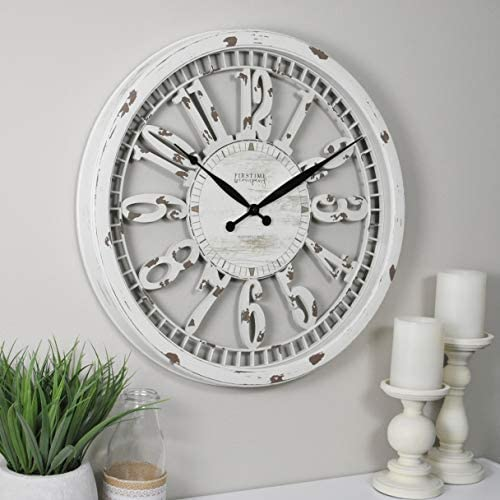 FirsTime Co. Whitney Wall Clock, 20 , Antique Cream