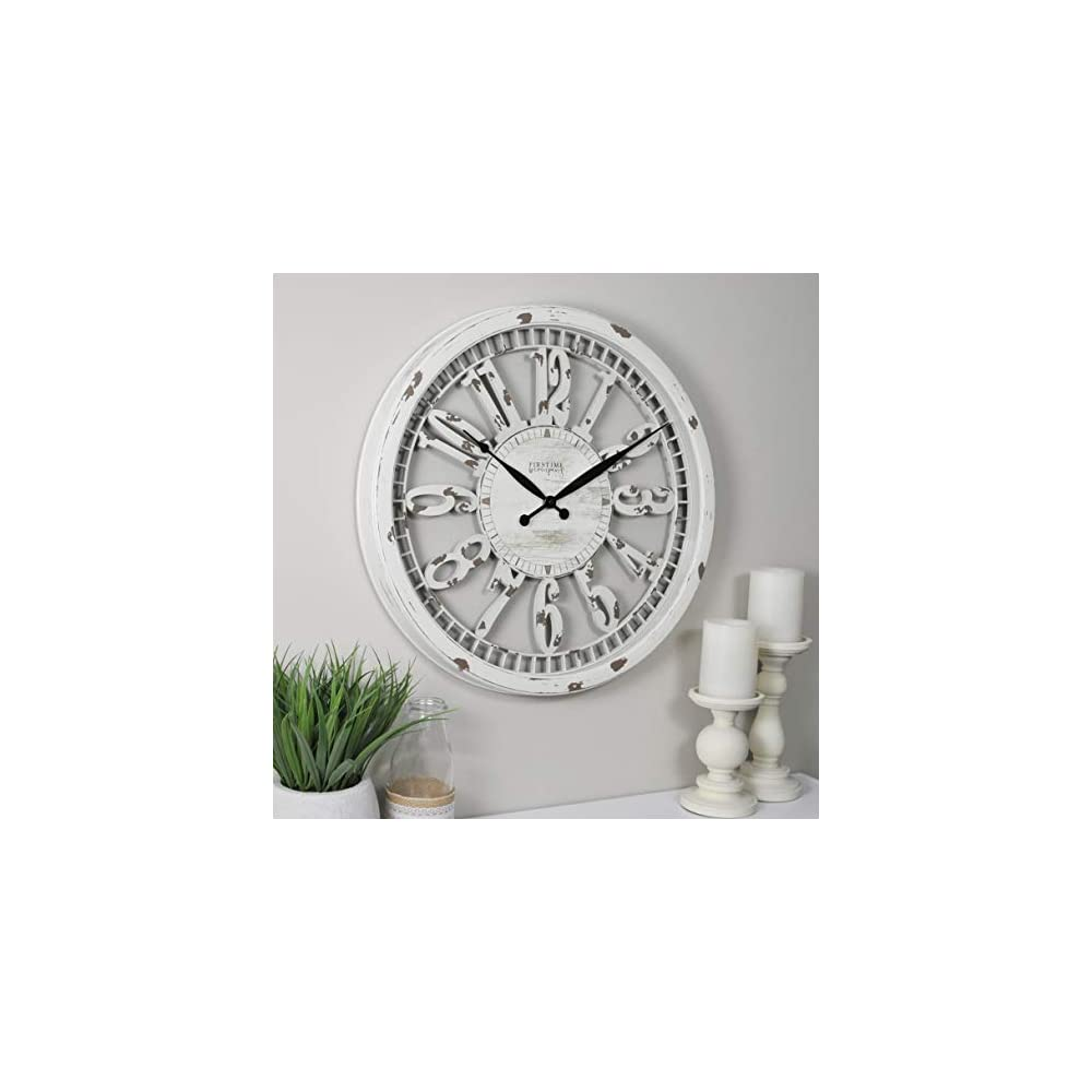 """FirsTime & Co. Whitney Wall Clock, 20"""", Antique Cream"""