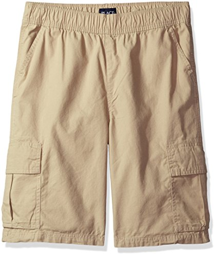 The Children's Place Big Boys' Pull-on Cargo Shorts, Sand Wash, 16H (Boys Jean Shorts Size 16)